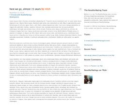 The RR blog
